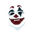 joker face on white background vector image
