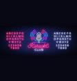karaoke club logo in neon style neon sign bright