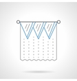 Lambrequin flat blue line icon vector image vector image