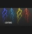 lightning storm flash thunder electric vector image vector image