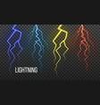 lightning storm flash thunder electric vector image
