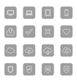 line web icon set on gray rounded rectangle vector image vector image