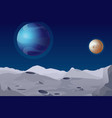 lunar landscape with vector image vector image