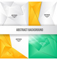 modern low poly background collection vector image vector image