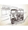motorcycle rickshaw vector image vector image