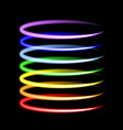Neon rainbow light effects vector image vector image