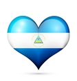Nicaragua Heart flag icon vector image vector image
