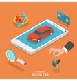 Online rental car service concept vector image