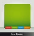 options page template vector image vector image