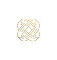 outline icon intertwined wedding rings hand vector image
