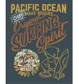 pacific ocean surfing wave rider vector image vector image