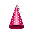 party hat with srats vector image vector image