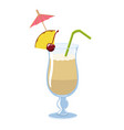 pina colada cocktail isolate on a white vector image