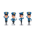 police officer icons cartoon vector image vector image