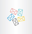 postal envelopes icon design vector image