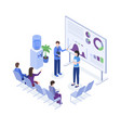 project presentation isometric color vector image vector image