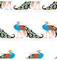 seamless background stylized decorative vector image