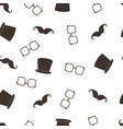 seamless fathers day pattern on white background vector image