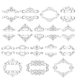 set - calligraphic design elements vector image vector image