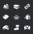 Set of cotton icons