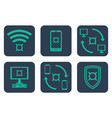 set of icons about online payments with currency vector image vector image