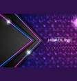 shiny glowing abstract retro lights tech vector image vector image