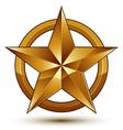 sophisticated golden star emblem 3d decorative