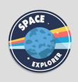 space explorer earth circle frame background vector image vector image