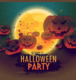 spooky halloween celebration background vector image vector image