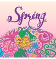 Spring and Round Border vector image vector image