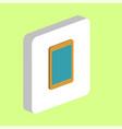 tablet computer symbol vector image vector image