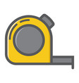 tape measure filled outline icon build and repair vector image