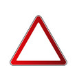 triangle road sign vector image vector image