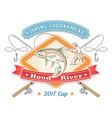 vintage fishing tournament label vector image
