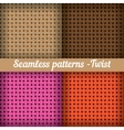 Weaving basket Set of seamless abstract pattern vector image vector image