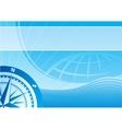 Blue travel background vector image