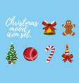 set of christmas mood vector image