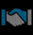 acquisition handshake halftone icon vector image vector image