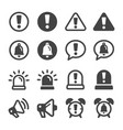 alert and reminder icon set vector image vector image