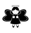 Angel of Christmas season design vector image