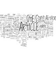 article directory sites text word cloud concept vector image vector image