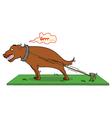 barking dog never bite vector image vector image