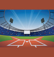 baseball stadium background vector image