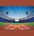 Baseball stadium background vector image