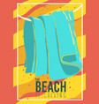 beach summer design with hanged towel vector image vector image
