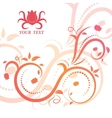 Beautiful floral with swirls vector image vector image
