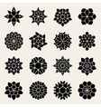 Black And White Mandala Lace Ornaments vector image vector image
