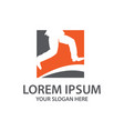 business jumb logo vector image vector image