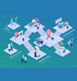 cancer control isometric composition vector image vector image