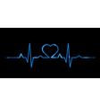 cardiogram love vector image